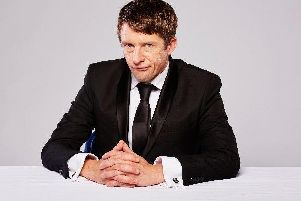 Tom Walker as his journalist creation Jonathan Pie