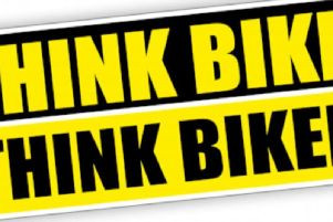 """Police say """"when using the roads please look out for each other, particularly vulnerable road users, check your mirrors and #thinkbike #thinkbiker"""""""