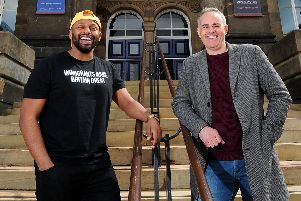 Harrogate event this week - The ground-breaking Sheffield Mayor Magid Magid, left, with Green Party Leader Jonathan Bartley.