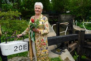Dame Judi Dench visits the garden. PIC: Simon Dewhurst