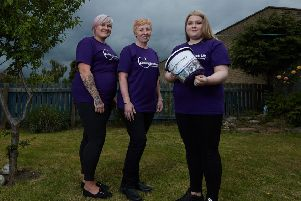 14-year-old Georgia pictured with her mum Zoe White and grandma Angie White who are doing the walk with her.