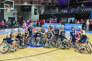 The Great Britain team at the Hamburg 2018 World Championships.