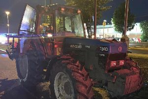 Police caught three men near Xscape in Castleford after they abandoned the stolen tractor (Photo: West Yorkshire Police - Wildlife and Rural Crime).