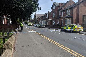 Peterson Road, close to the Kirkgate roundabout, was closed by police shortly after 10am this morning.