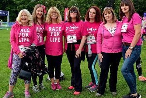 ITV Calendar's Christine Talbot also joined the Race for Life in Wakefield.