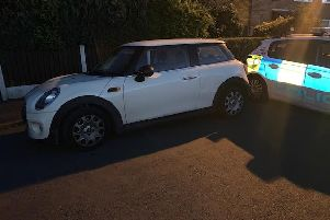 The Mini had false reg plates