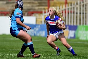 Chloe Billington scored the winning try as Wakefield set up a semi-final with Castleford Tigers. PIC: Paul Butterfield.