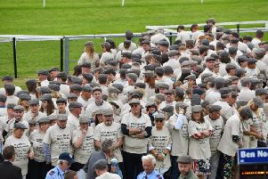 A total of 691 people took part in the world record attempt at Pontefract Racecourse on Sunday. Picture: Pontefract Racecourse.