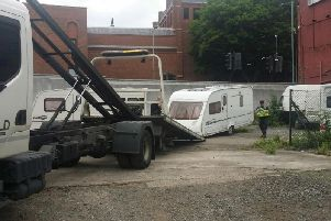 The stolen caravans are removed
