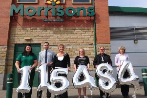 Wakefield Hospice is celebrating after the financial donation from the Morrisons Foundation.