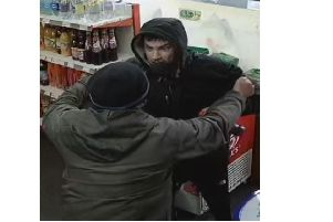 Can you help police trace the 'robber' and the customer who confronted him?