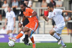 Blackpool's Nathan Delfouneso is ready for the added expectation on Blackpool's shoulders this season