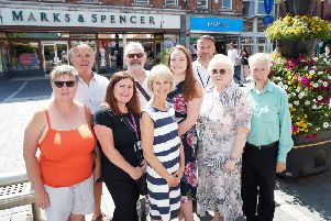 Traders in Castleford have clubbed together and sorted a flower display for the town centre.