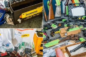 Weapons handed in included 31 live firearms including 21 handguns, eight shotguns, a taser and a rifle.
