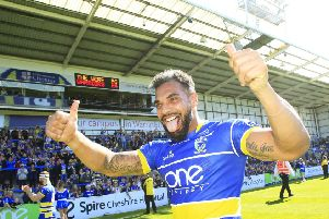 Warrington Wolves centre Ryan Atkins has re-signed for Wakefield Trinity. PIC: Chris Mangnall/SWpix.com