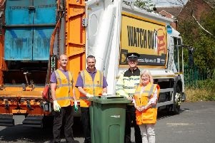 Drivers are being warned they face prosecution if they mount pavements to get past bin lorries.