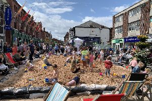 All the fun of a Great British seaside holiday came to Castleford at the weekend.