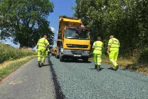 """The """"surface dressing"""" technique has been credited with reducing the number of potholes in Lancashire."""