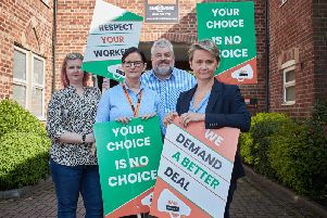 Union bosses and Pontefract and Castleford MP Yvette Cooper are backing Asda workers who are being forced to sign new contracts which they says clamps down on breaks and working hours.