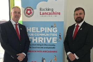 Clive Grunshaw, Police and Crime Commissioner for Lancashire, and Chris Webb, Deputy Police and Crime Commissioner for Lancashire, at the launch of Backing Lancashire earlier this year