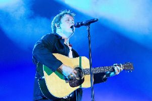 Lewis Capaldi performing in Scarborough earlier this summer. PIC: Cuffe and Taylor