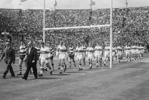 27 fantastic photos showing champions Wakefield Trinity lifting the Challenge Cup at Wembley in 1960