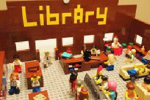A national competition is being held to build a Lego library for the future.