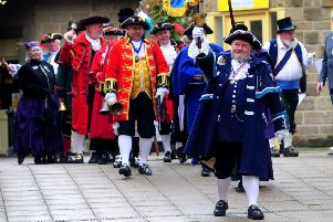 Town Crier Competition at Otley Market Place.