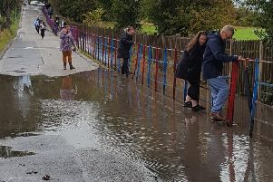 Flooding on the access road to Hady Primary School. Picture submitted by Ross Shipman.