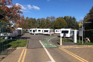 Travellers were moved on from Queen's Park in Chesterfield yesterday, but caravans are back at the site today