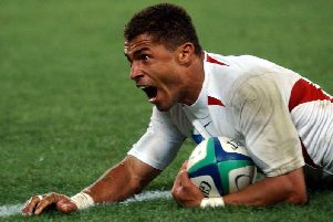 England's Jason Robinson scores in the 2003 Rugby World Cup final. (PA)