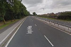 A tree was blown over on the Longton bypass last night