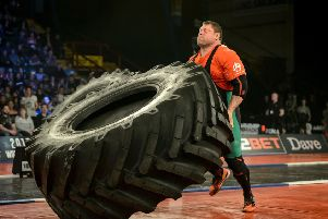 Ultimate Strongman World Championship 2016 at the Metro Radio Arena in Newcastle-upon-Tyne.