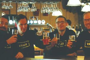 From left to right, Vaux Brewery team Ross Palmer, Matthew Jackson, Michael Thompson and Steven Smith.