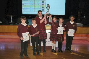 The winning team from Grindleton CE Primary School.