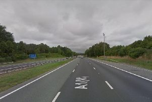 Seven miles of traffic and delays of up to an hour on A1M near Wetherby following a crash. 'Photo: File photo.
