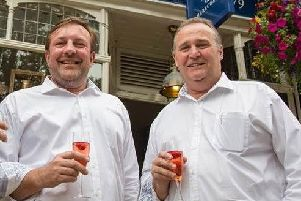 Mike Carthy (right) with fellow Spirit of Harrogate co-founder Marcus Black. (S)