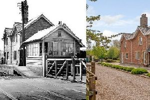 Station House, Weedling Gate, Stutton, Tadcaster in 1960 and today ' �875,000 with Fine & Country, 01937 583535.