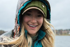 The 'new face of fishing', Marina Gibson. (S)
