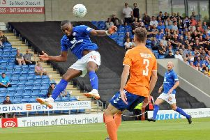 Gozie Ugwu struggled with injuries during his time as a Spireite