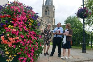 Chesterfield is hoping to be among the awards in the East Midlands in Bloom competition.