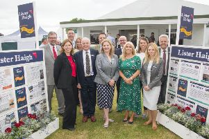 Chairman John Haigh and his 'exceptional squad' at estate agent Lister Haigh, which celebrates its centenary in 2019. (S)
