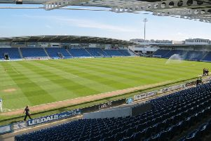Chesterfield host Woking at the Proact on Tuesday night.