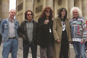 A previous line-up of Hawklords.