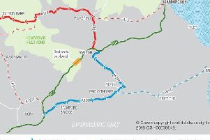 The diversions map by Highways England