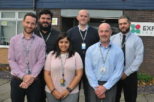 Left, headteacher Richard King, with staff at Expanse Learning Wigan