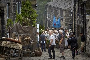 Filming of Peterloo in Heptonstall last year
