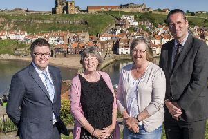 From left: Eskdale School Head Andy Fyfe, Eskdale School Chair of Governors Gillian Teanby, Caedmon College Chair of Governors Pen Cruz and Caedmon College Head Simon Riley.