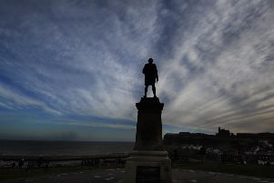 The Captain Cook Statue, Whitby.(TECH DATA..Nikon D3s camera, 12-24mm lens, exposure 250th at f8, iso 200).30th December 2018..Picture by Simon Hulme