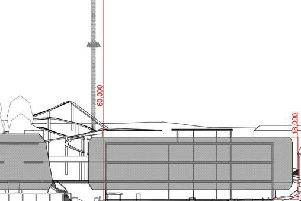 Front elevation of the Flamingo Land plans for the Futurist site